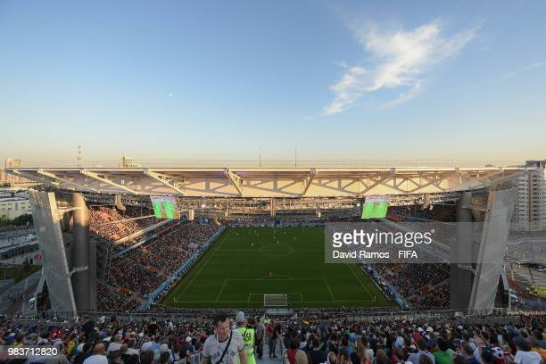 General view onside the stadium during the 2018 FIFA World Cup Russia group H match between Japan and Senegal at Ekaterinburg Arena on June 24 2018...