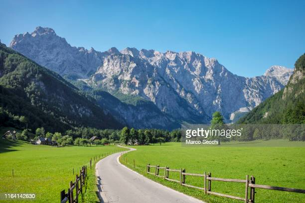 a general view or logarska dolina - marco secchi stock photos and pictures