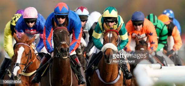 A general view or racing at Newbury Racecourse on November 08 2018 in Newbury England