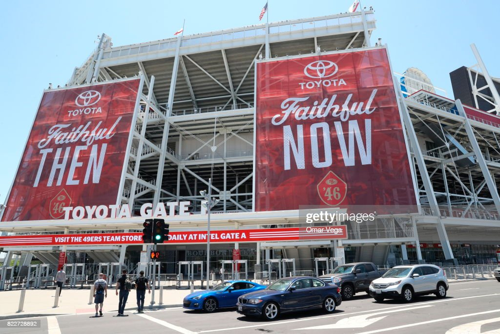 A general view os Levi's Stadium prior the United States National Team press conference prior to the final match against Jamaica at Levi's Stadium on July 25, 2017 in Santa Clara, California.
