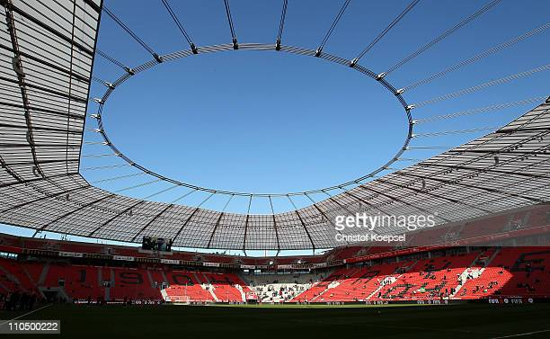 General view ot the Bayarena prior to the Budesliga match between Bayer Leverkusen and FC Schalke 04 at BayArena on March 20 2011 in Leverkusen...