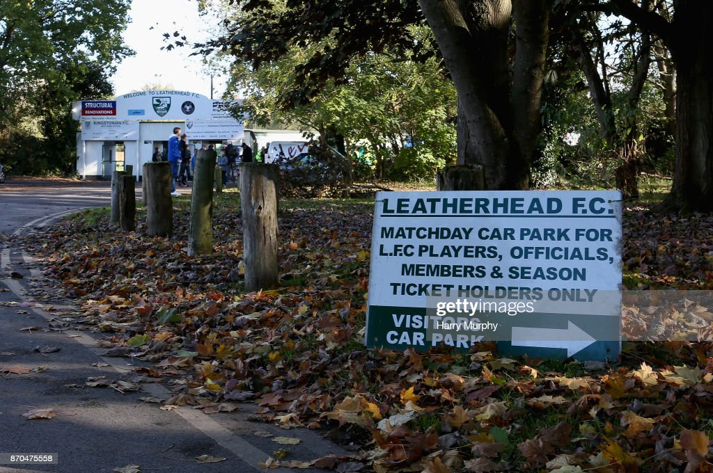 Leatherhead v Billericay Town - The Emirates FA Cup First Round : News Photo