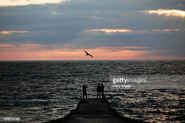 General view out to sea as the sunsets on November 20, 2011 in Sochi, Russia. Sochi is one of thirteen cities proposed as a host city as Russia...