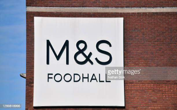 General view outside a Marks & Spencer store on February 01, 2021 in Macclesfield , England .