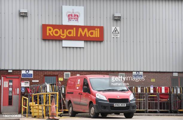 General view outside a Royal Mail sorting office on February 14, 2021 in Congleton, England .