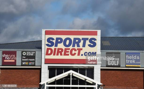A general view outside a Sports Direct store as StokeonTrent prepares as StokeonTrent prepares to move up to tier 2 coronavirus restrictions on...