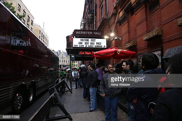 General view outside as guests enter during Vulture Festival Governors Ball Present Gary Clark Jr And Albert Hammond Jr at Webster Hall on May 21...