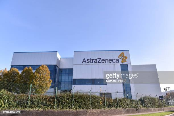 General view outside AstraZeneca Millcourt center as the company targets for delivery of UK Covid vaccine by the end of 2020 on November 07, 2020 in...