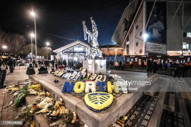 General view outside Elland Road of Billy Bremner statue prior to the Sky Bet Championship match between Leeds United and Swansea City at Elland Road...