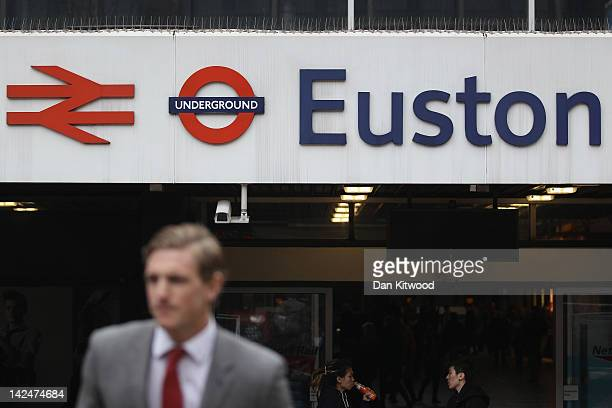 A general view outside Euston Station on April 5 2012 in London England