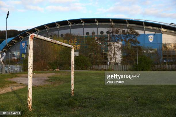 General view outside John Smith's Stadium is seen prior to the Sky Bet Championship match between Huddersfield Town and Barnsley at John Smith's...