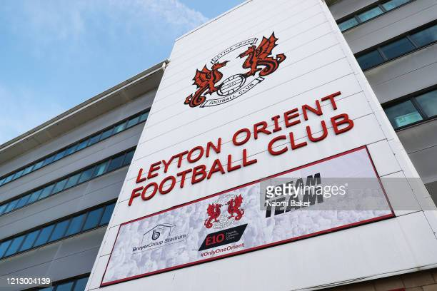 General view outside Leyton Orient Football Club after it has been announced that all football league matches, including the Premier League and...