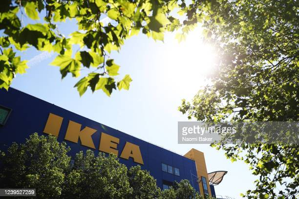 General view outside of IKEA as it reopens to the public on June 01, 2020 in Southampton, United Kingdom. The furniture and housewares chain reopened...