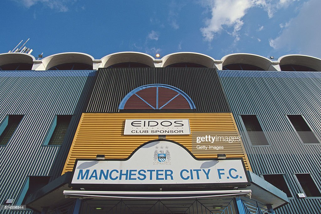 A general view outside of Maine Road, home of Manchester City before an FA Carling Premiership match between Manchester City and Southampton on March 3, 2001 in Manchester, England.