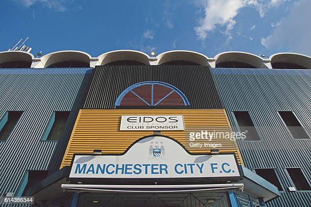 A general view outside of Maine Road home of Manchester City before an FA Carling Premiership match between Manchester City and Southampton on March...
