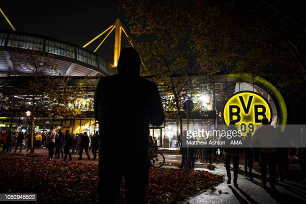 General view outside of Signal Iduna Park, the Westfalenstadion home of Borussia Dortmund during the Group A match of the UEFA Champions League...