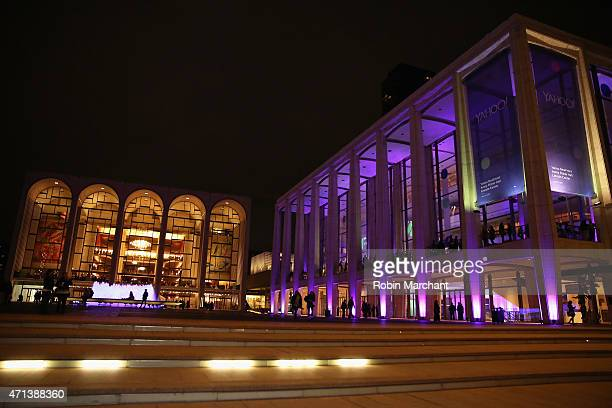 A general view outside of the 2015 Yahoo Digital Content NewFronts at Avery Fisher Hall on April 27 2015 in New York City