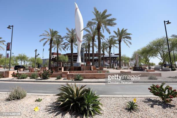 General view outside of the Cleveland Indians and Cincinnati Reds spring training facility, Goodyear Ballpark on April 07, 2020 in Avondale, Arizona....
