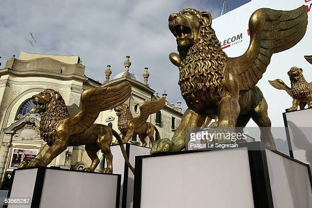 General view outside of the Palazzo del Cinema ahead of the start of the 62nd Venice Film Festival on August 31 2005 in Venice Italy