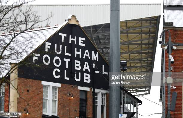 General view outside of the stadium ahead of The Emirates FA Cup Fourth Round match between Fulham and Burnley at Craven Cottage on January 24, 2021...