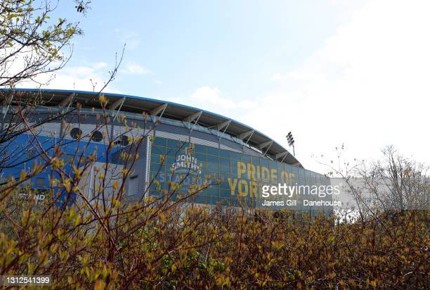 General view outside of the stadium ahead of the Sky Bet Championship match between Huddersfield Town and AFC Bournemouth at John Smith's Stadium on...