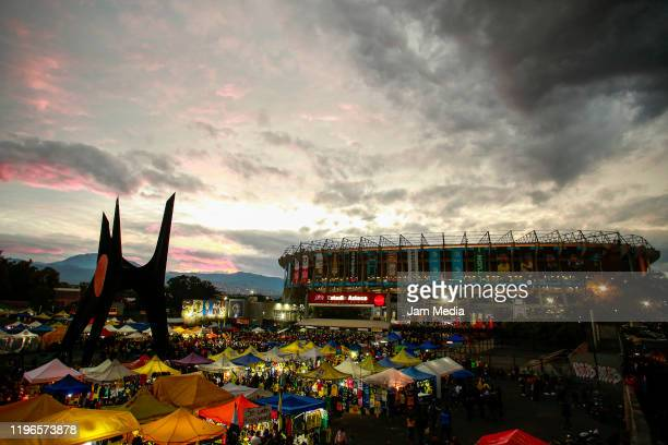 General view outside of the stadium prior to the Final second leg match between America and Monterrey as part of the Torneo Apertura 2019 Liga MX at...