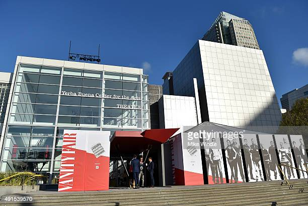 General view outside of the Vanity Fair New Establishment Summit at Yerba Buena Center for the Arts on October 6 2015 in San Francisco California