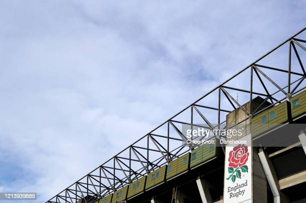 A general view outside of Twickenham Stadium is seen as rugby in England remains suspended due to Covid19 on March 21 2020 in London England