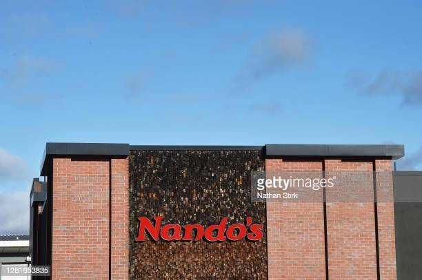 A general view outside restaurant chain Nando's as StokeonTrent prepares to move up to tier 2 coronavirus restrictions on October 22 2020 in Hanley...