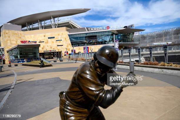 A general view outside Target Field on April 9 2019 in Minneapolis Minnesota The week in Minnesota started with two sunny Spring days and has since...