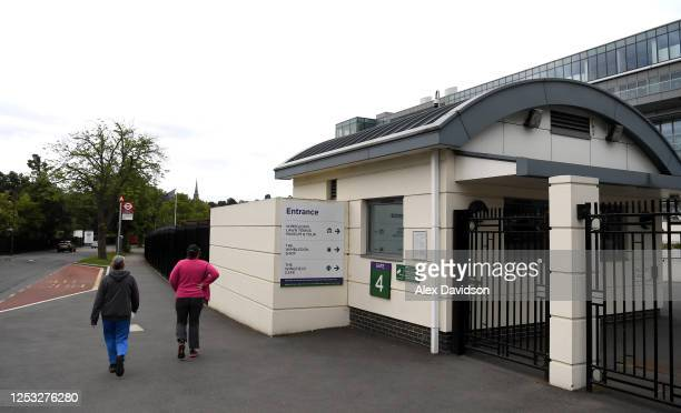 A general view outside The All England Tennis and Croquet Club on June 29 2020 in Wimbledon England The Wimbledon Tennis Championships were due to...