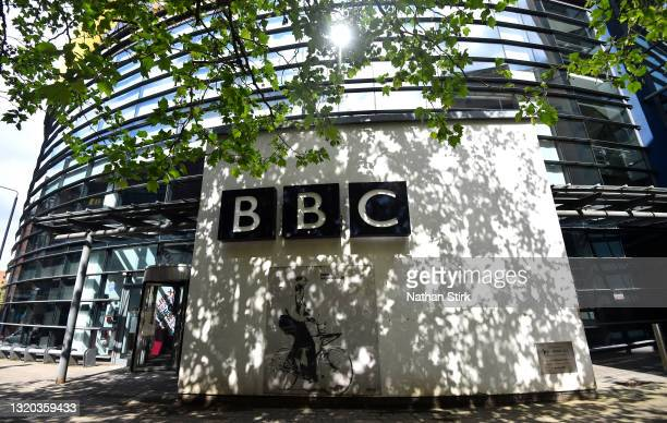 General view outside the BBC Yorkshire Studios on May 27, 2021 in Leeds, England.