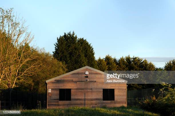 A general view outside the Church Crookham and Fleet Men's Shed on May 05 2020 in Church Crookham England Following the COVID19 outbreak the Church...