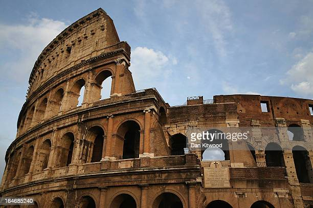 A general view outside the Colosseum on March 23 2013 in Rome Italy