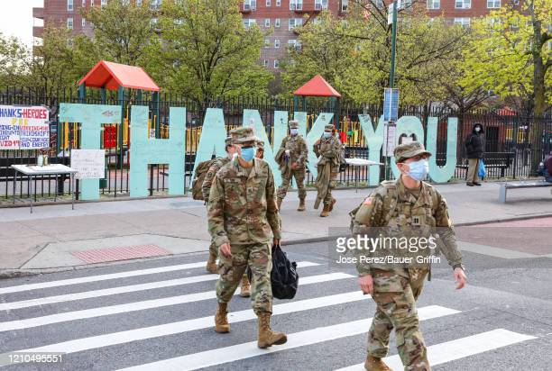 A general view outside the Elmhurst Hospital Center in Queens on April 20 2020 in New York City