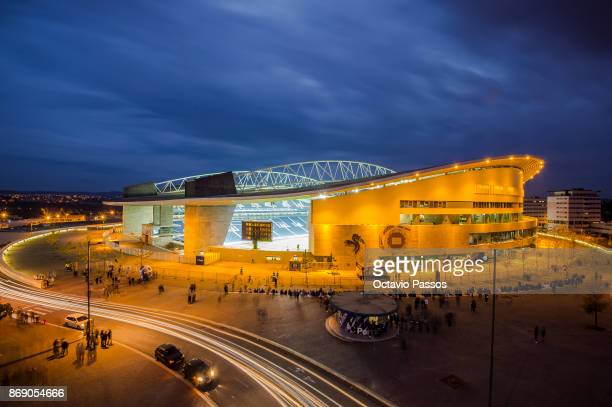 General view outside the Estadio do Dragao the prior the UEFA Champions League group G match between FC Porto and RB Leipzig at Estadio do Dragao on...