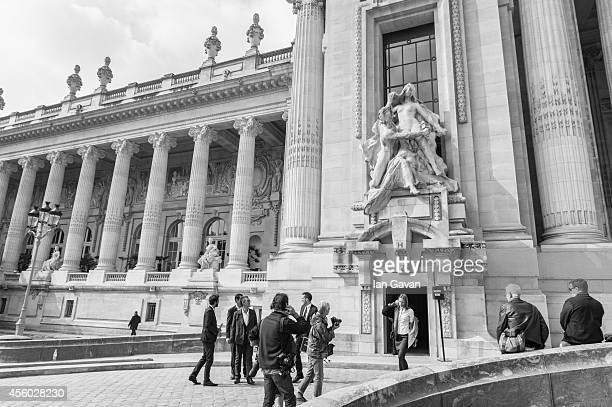A general view outside the Grand Palais during the Guy Laroche show as part of the Paris Fashion Week Womenswear Spring/Summer 2015 on September 24...