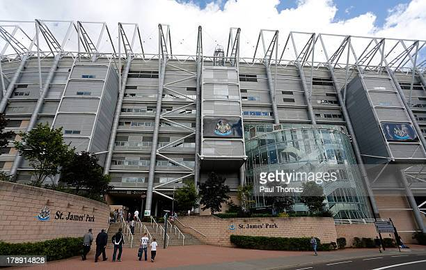 A general view outside the ground before the Premier League match between Newcastle United and Fulham at the St James Park on August 31 2013 in...