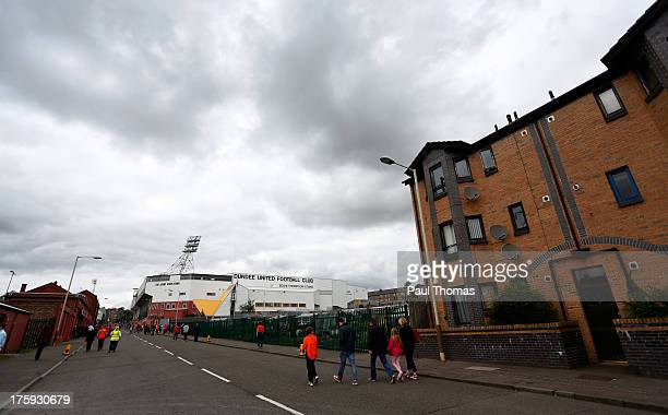 A general view outside the ground before the Scottish Premier League match between Dundee United and Inverness Caledonian Thistle at Tannadice Park...