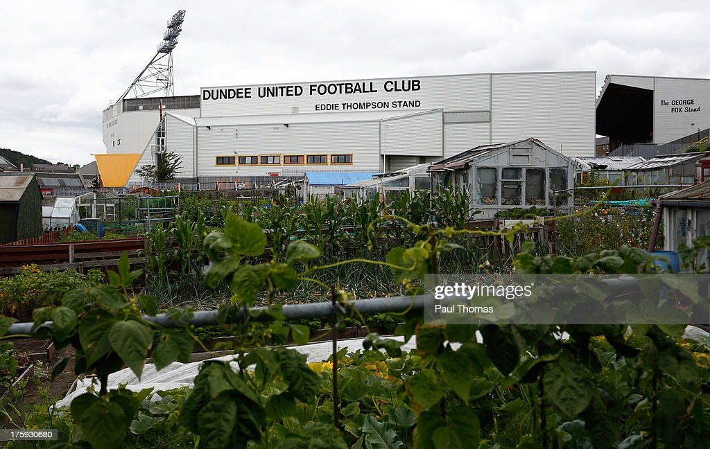 A general view outside the ground before the Scottish Premier League match between Dundee United and Inverness Caledonian Thistle at Tannadice Park on August 10, 2013 in Dundee, Scotland