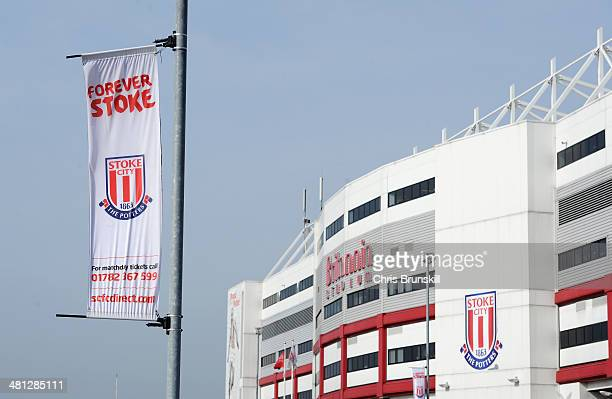 A general view outside the ground prior to the Barclays Premier League match between Stoke City and Hull City at Britannia Stadium on March 29 2014...