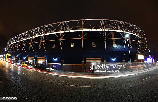 A general view outside the ground prior to the Barclays Premier League match between West Bromwich Albion and Swansea City at The Hawthorns on...