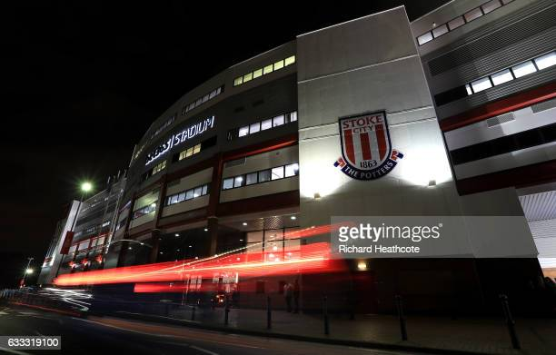 A general view outside the ground prior to the Premier League match between Stoke City and Everton at Bet365 Stadium on February 1 2017 in Stoke on...
