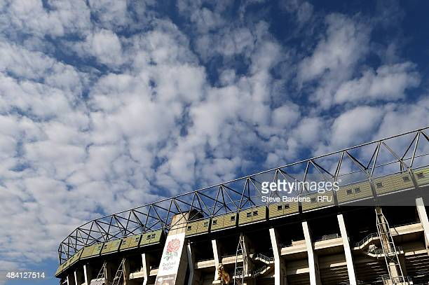 A general view outside the ground prior to the QBE International match between England and France at Twickenham Stadium on August 15 2015 in London...