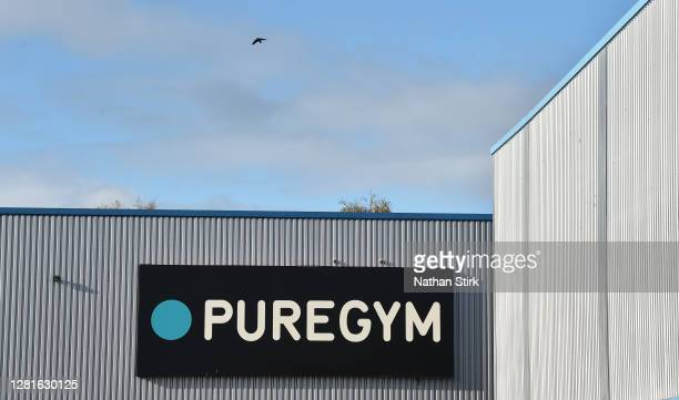 A general view outside the gym branch PureGym on October 22 2020 in Hanley StokeonTrent