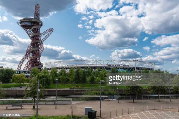 General view outside The London Stadium at Queen Elizabeth Olympic Park new home of West Ham UnitedAugust 20 2019 in London England