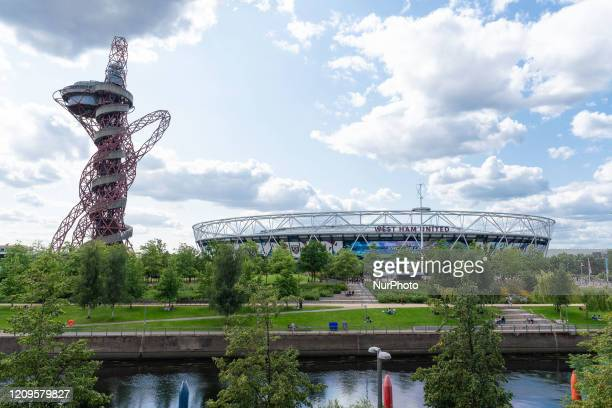 General view outside The London Stadium at Queen Elizabeth Olympic Park , new home of West Ham United,August 20, 2019 in London, England.