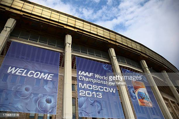 A general view outside the Luzhniki Stadium ahead of the 14th IAAF World Athletics Championships Moscow 2013 on August 6 2013 in Moscow Russia