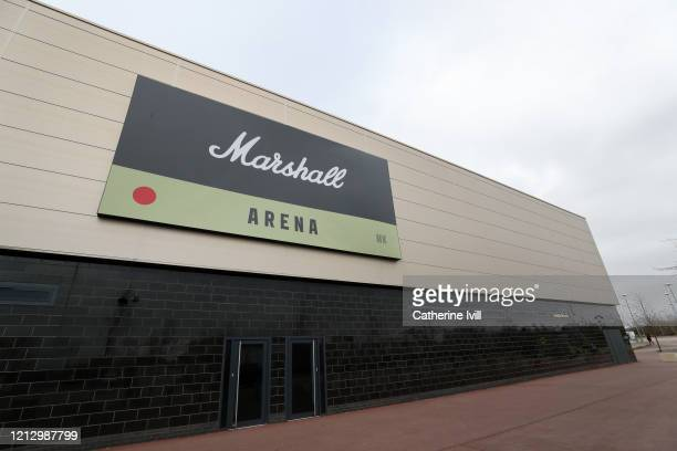 General view outside the Marshall Arena next to Stadium MK, home of Milton Keynes Dons on March 17, 2020 in Milton Keynes, England.