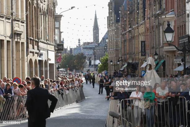 General view outside the Menin Gate at the Commonwealth War Graves Commission Ypres Memorial on July 30, 2017 in Ypres, Belgium. The Duke and Duchess...